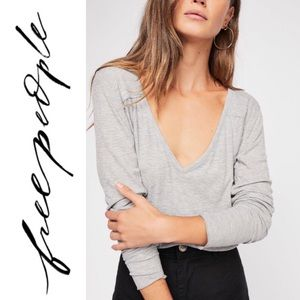NWT Free People Rock the Boat Long Sleeve Top